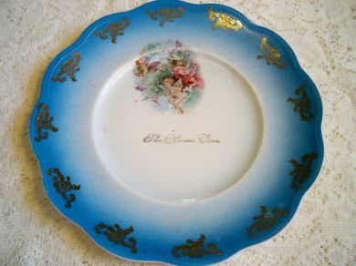 Antique Limoges Hoosier Store Fairy Plate
