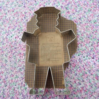 Vintage 1920s Gingerbread Man XLarge Cookie Cutter