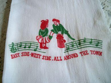 Oldfashionedcharm Vintage 1940s Flour Sack Kitchen Towel