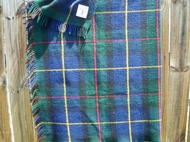 Vintage Scottish Wool Plaid Blanket James Pringle